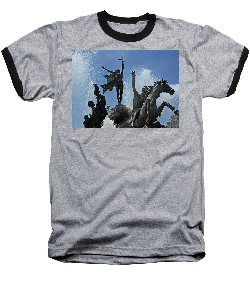 Statue Baseball T-Shirt featuring the photograph Old San Juan Puerto Rico by Tito Santiago