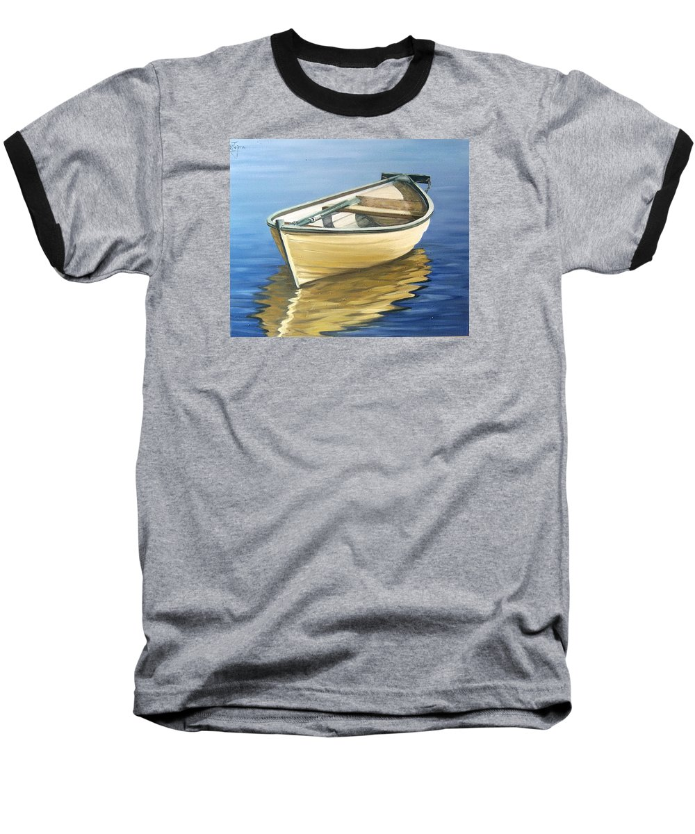 Still Life Baseball T-Shirt featuring the painting Calm by Natalia Tejera