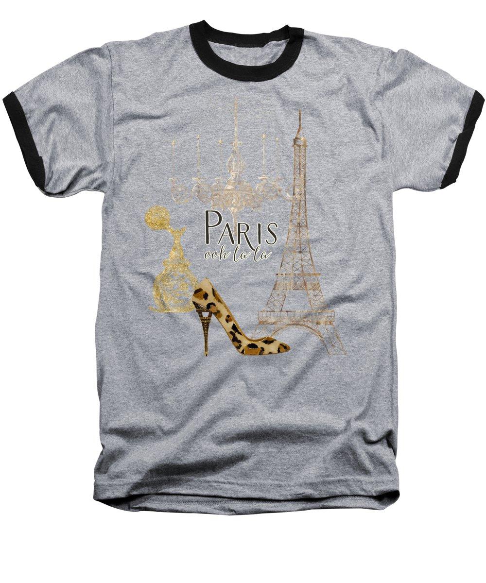 Eiffel Tower Baseball T-Shirts