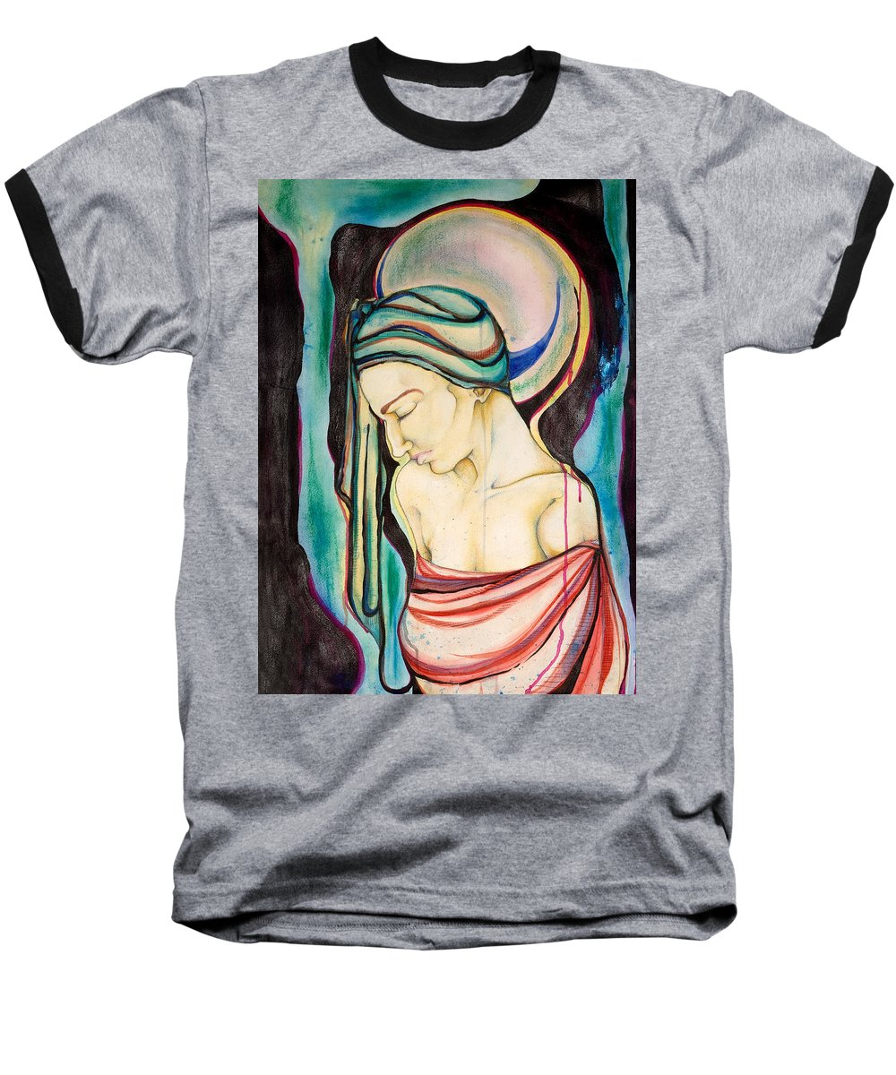Peace Baseball T-Shirt featuring the painting Peace Beneath The City by Sheridan Furrer