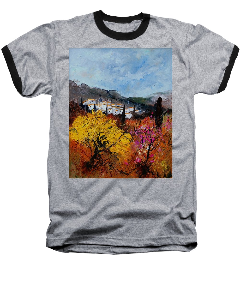 Provence Baseball T-Shirt featuring the painting Provence by Pol Ledent