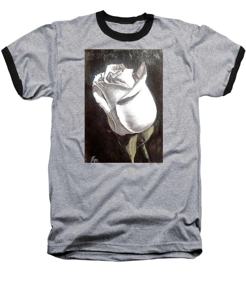 Flower Rose Still Life Baseball T-Shirt featuring the painting Rose 2 by Natalia Tejera