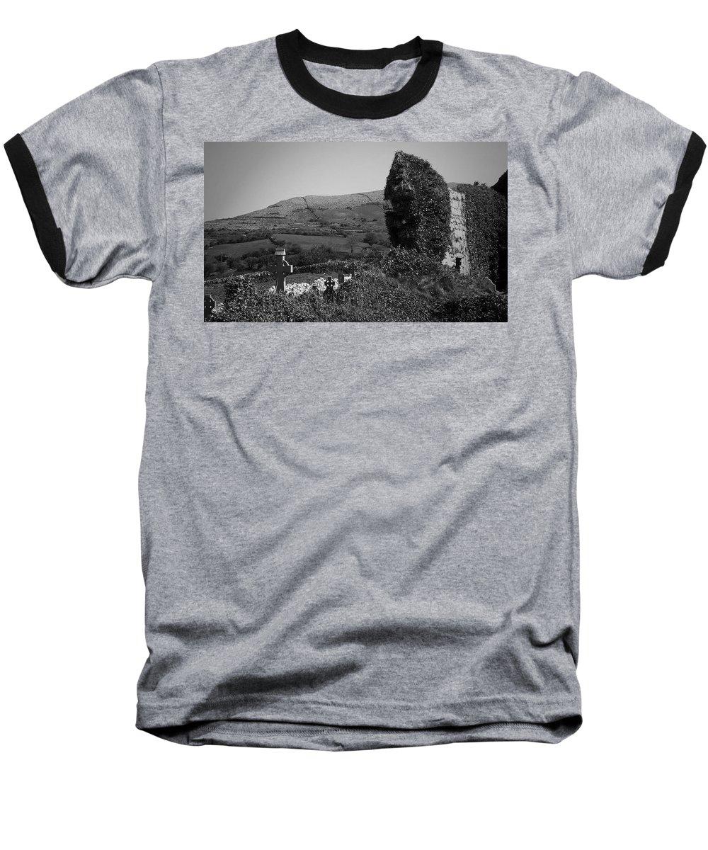 Irish Baseball T-Shirt featuring the photograph Ruins In The Burren County Clare Ireland by Teresa Mucha