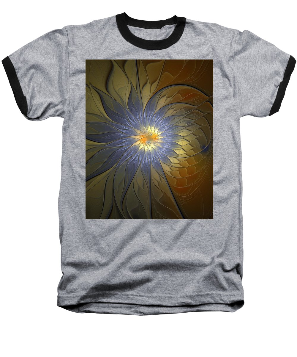 Digital Art Baseball T-Shirt featuring the digital art Something Blue by Amanda Moore