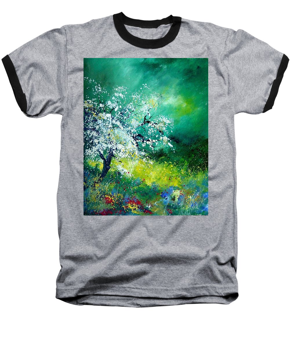 Flowers Baseball T-Shirt featuring the painting Spring by Pol Ledent