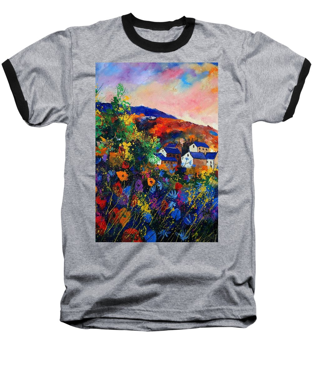 Landscape Baseball T-Shirt featuring the painting Summer by Pol Ledent