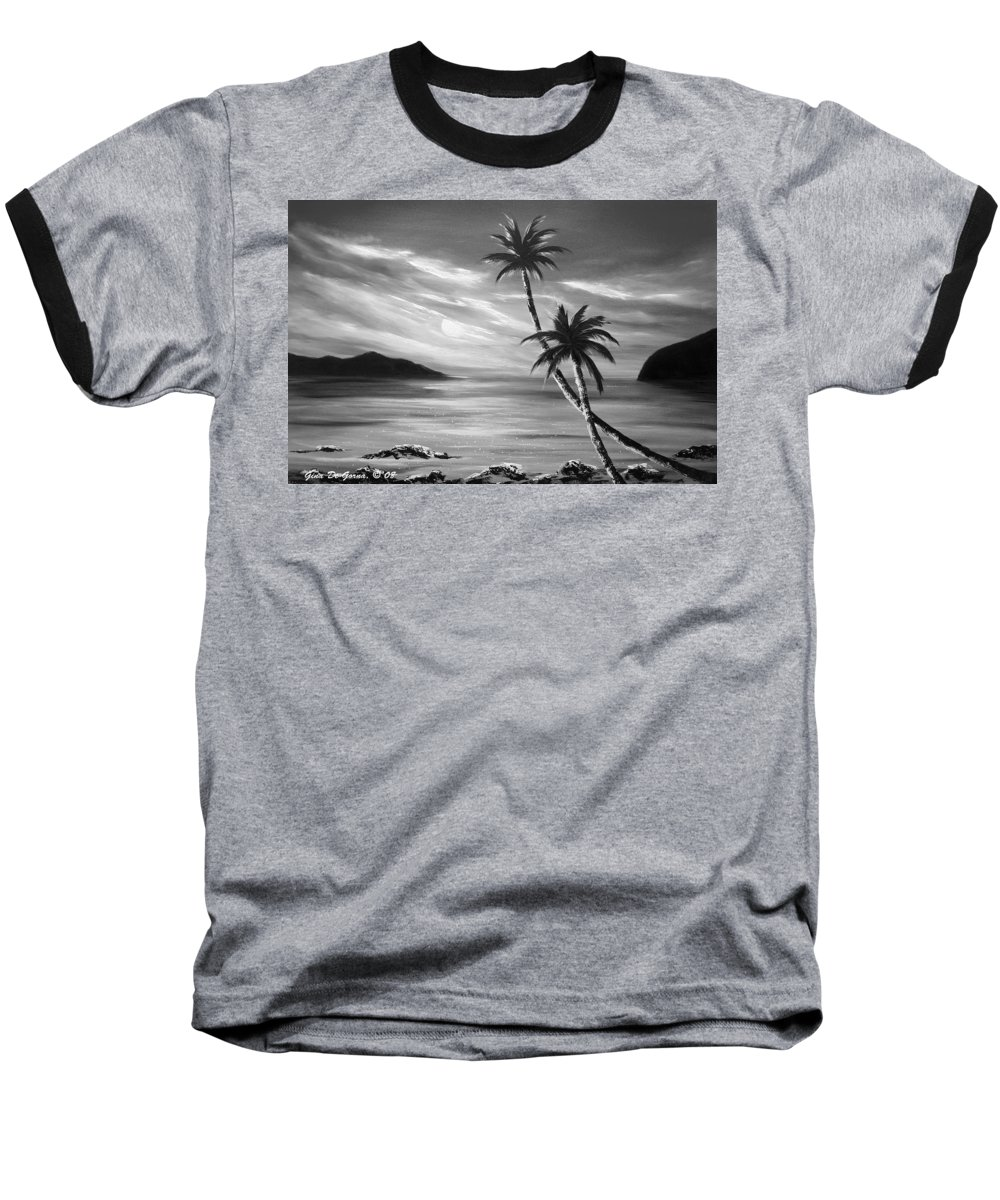 Sunset Baseball T-Shirt featuring the painting Sunset In Paradise by Gina De Gorna