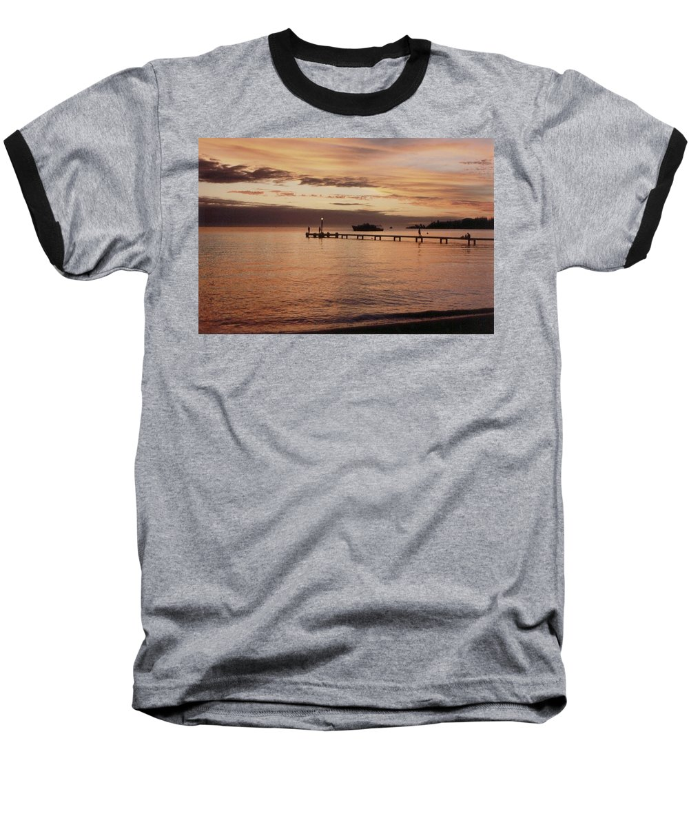 Sunset Baseball T-Shirt featuring the photograph Sunset In Paradise by Mary-Lee Sanders
