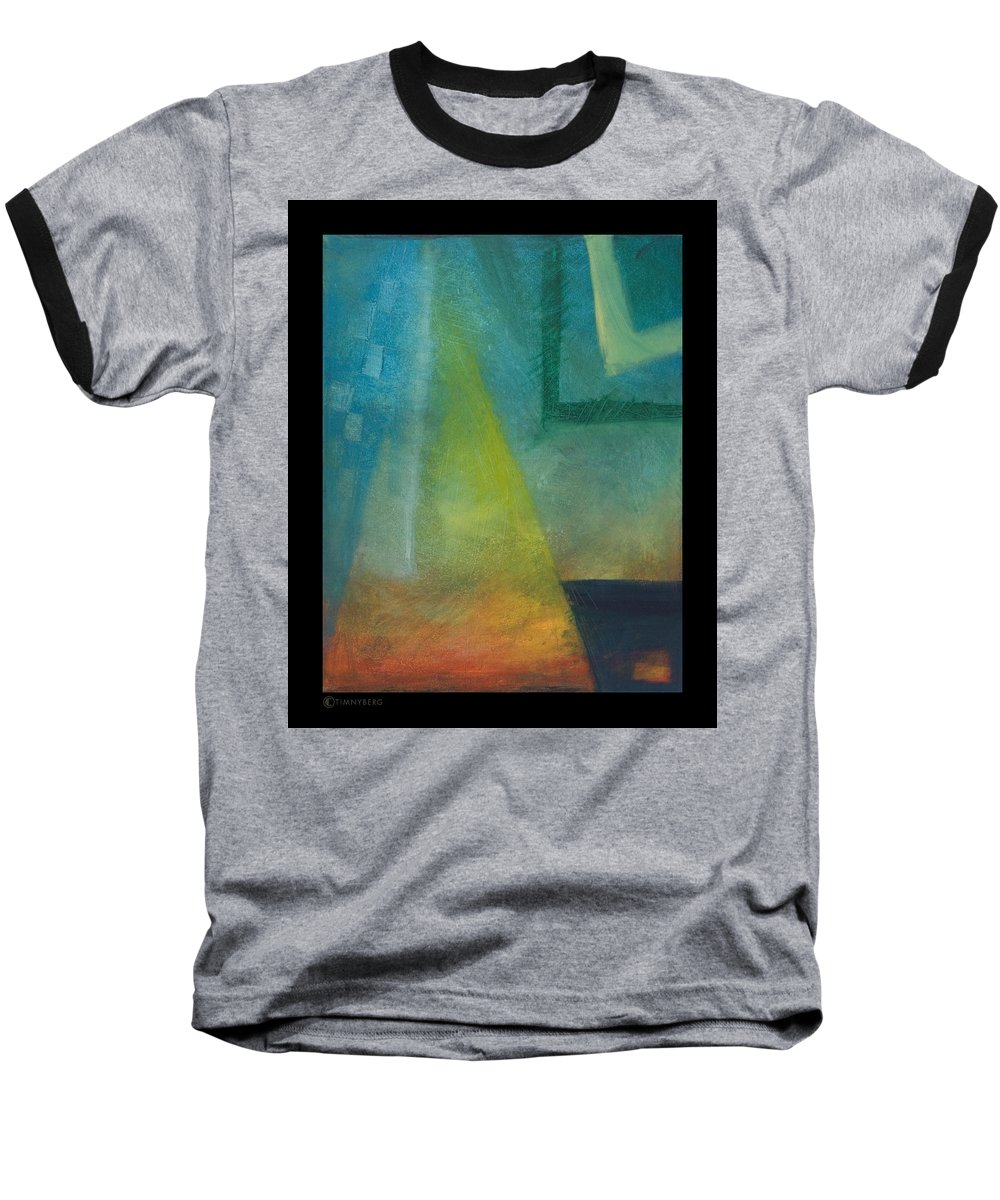 Sunset Baseball T-Shirt featuring the painting Sunset Sail by Tim Nyberg
