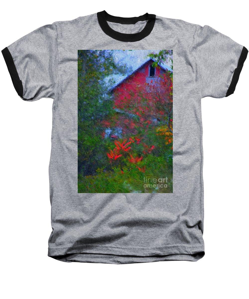 Digital Photo Baseball T-Shirt featuring the photograph The Barn by David Lane