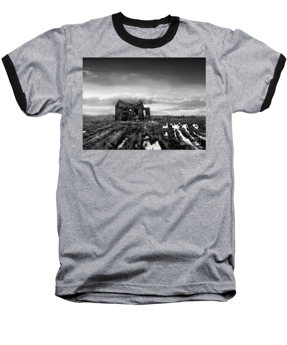 Architecture Baseball T-Shirt featuring the photograph The Shack by Dana DiPasquale