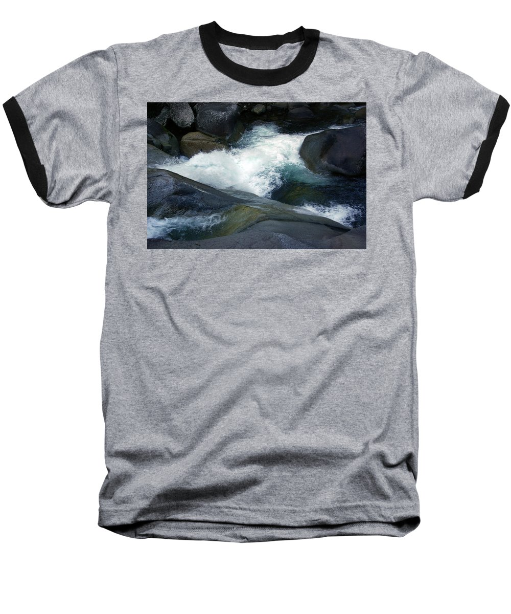 Fineart Baseball T-Shirt featuring the photograph Tropical Flowing Waters Josephine Falls by Kerryn Madsen- Pietsch