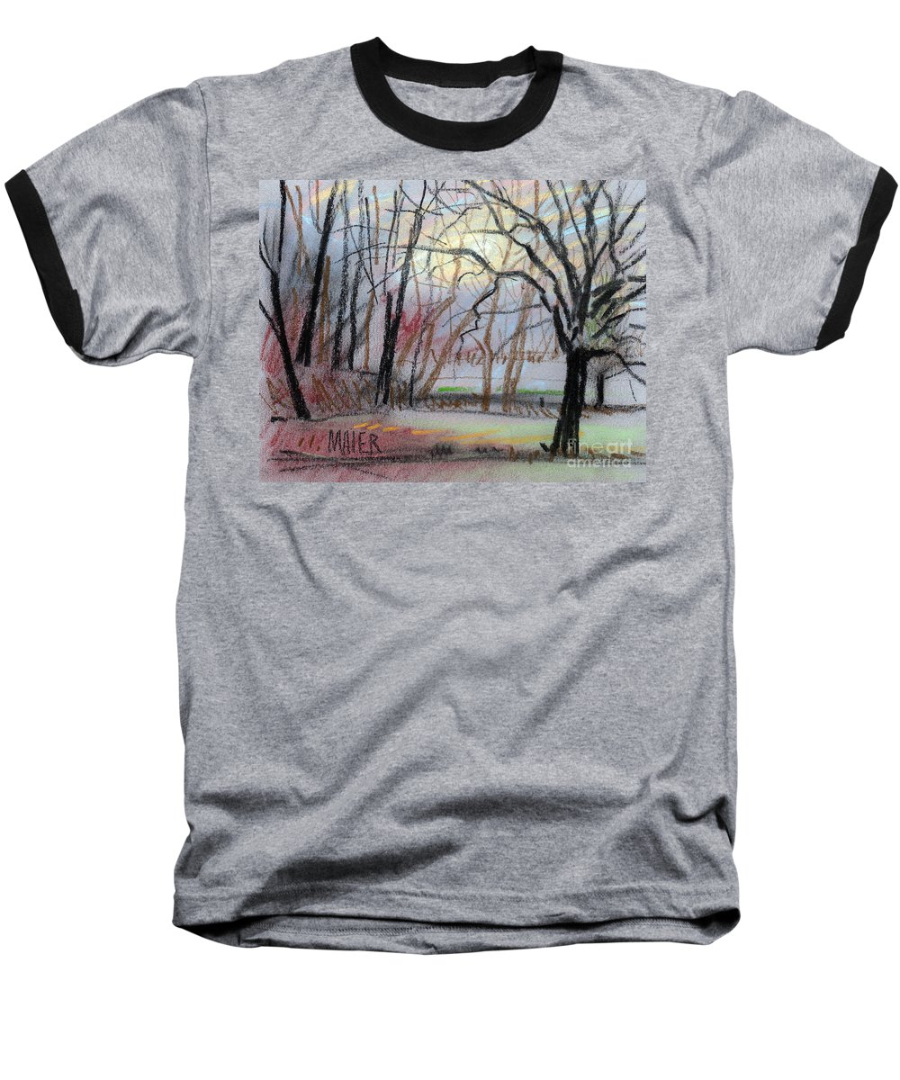 Landscape Baseball T-Shirt featuring the drawing Turner South by Donald Maier