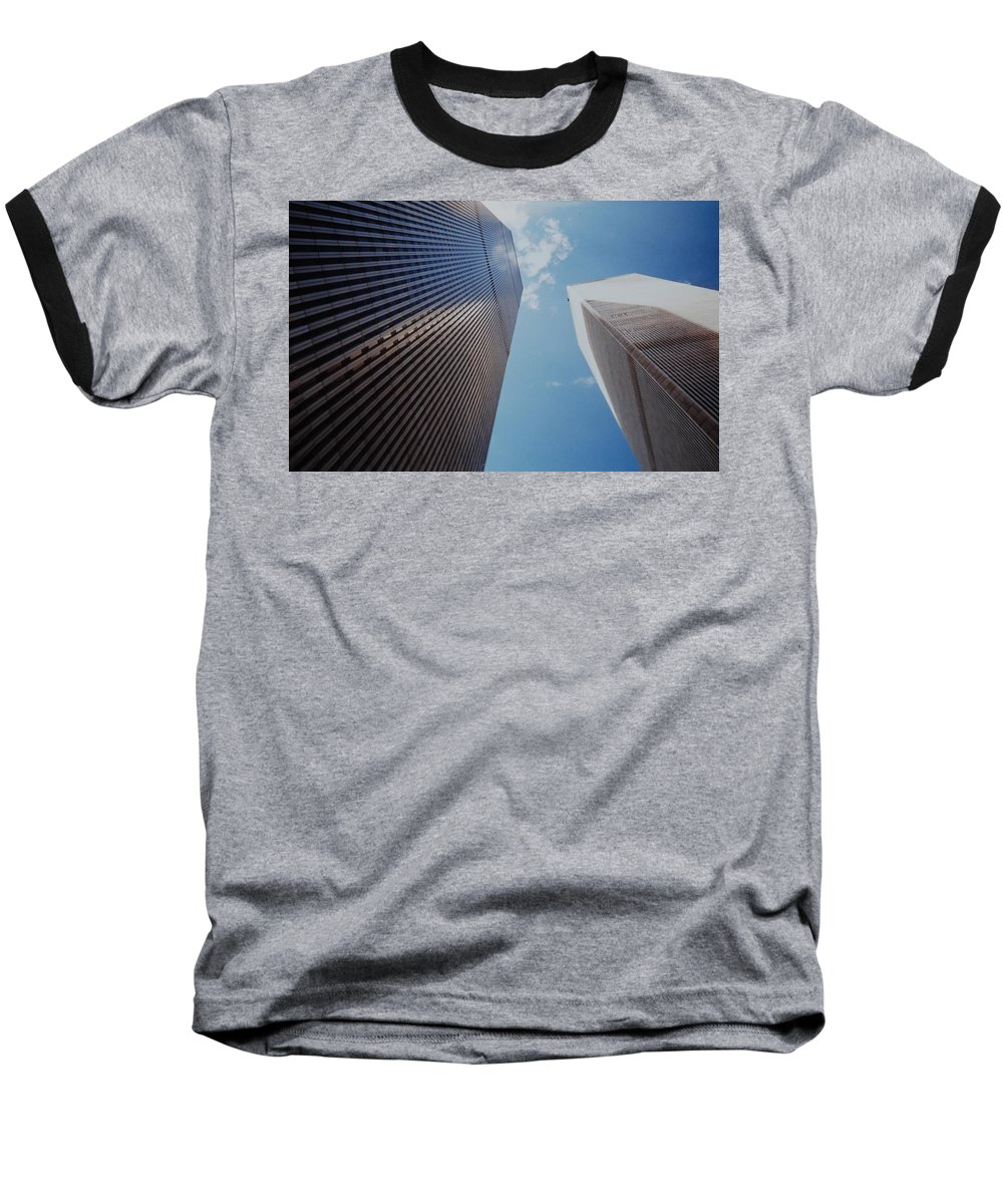 Wtc Baseball T-Shirt featuring the photograph W T C 1 And 2 by Rob Hans
