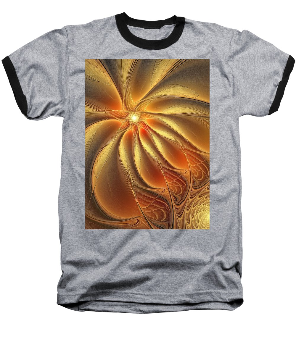 Digital Art Baseball T-Shirt featuring the digital art Warm Feelings by Amanda Moore