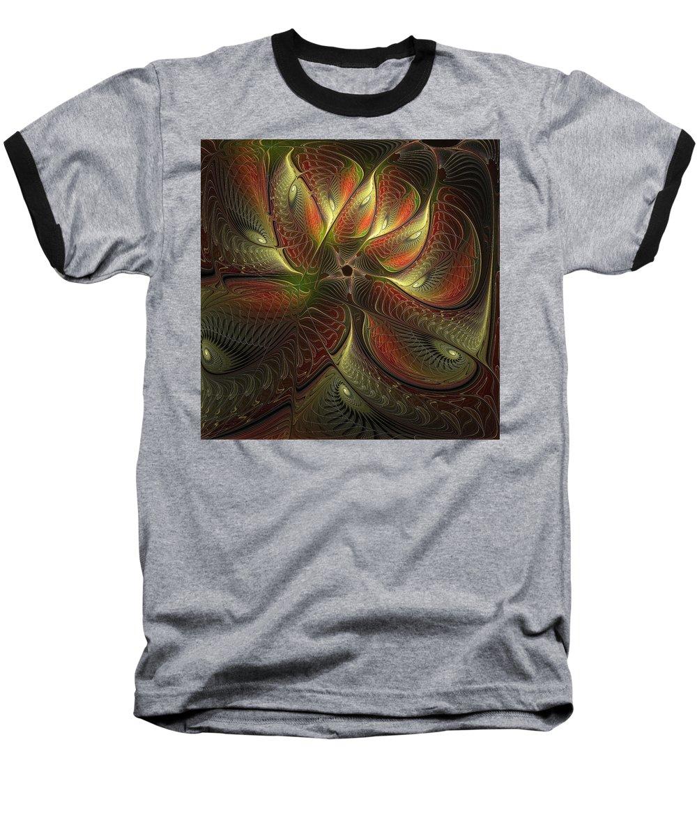 Digital Art Baseball T-Shirt featuring the digital art Watchful by Amanda Moore