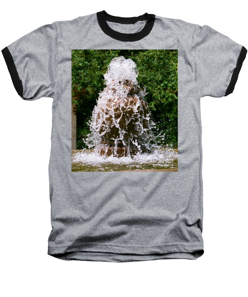 Water Baseball T-Shirt featuring the photograph Water Fountain by Dean Triolo