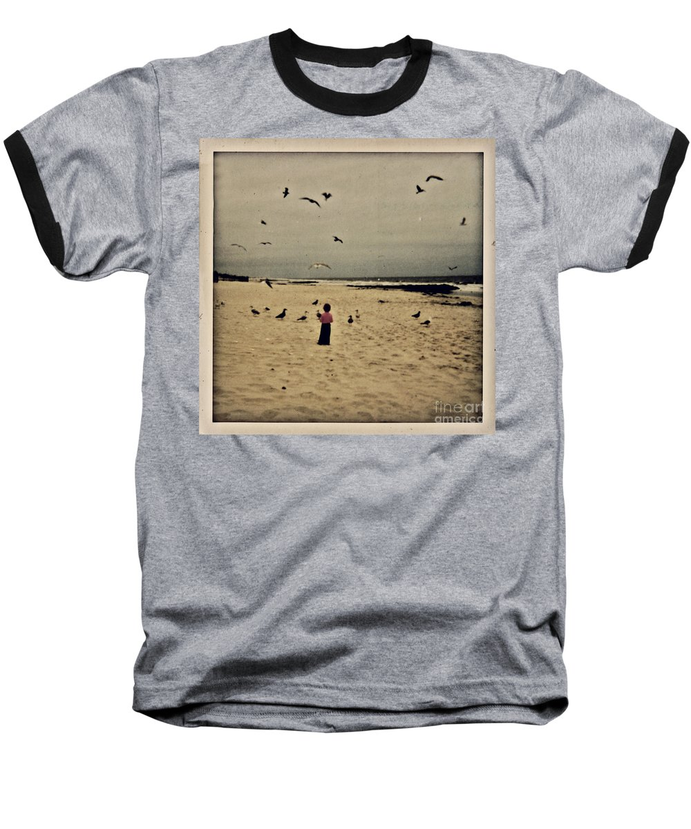 Ocean Baseball T-Shirt featuring the photograph When Promises Were For Keeps by Dana DiPasquale