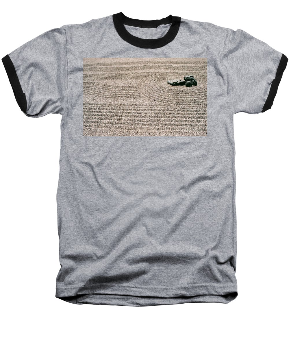 Zen Baseball T-Shirt featuring the photograph Zen Garden by Dean Triolo