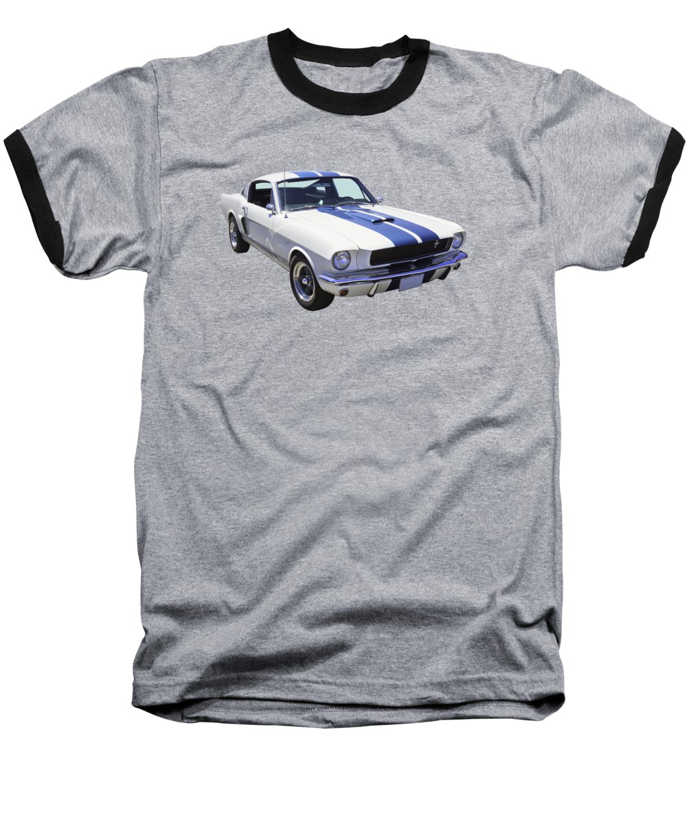 Car Baseball T-Shirt featuring the photograph 1965 Gt350 Mustang Muscle Car by Keith Webber Jr