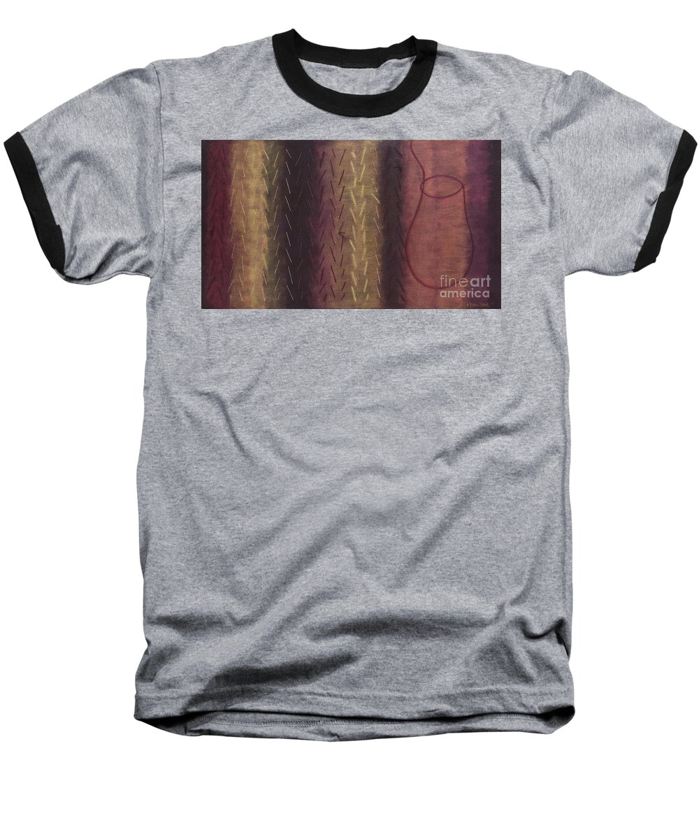 Acrylic Baseball T-Shirt featuring the painting Embodiment - Divine Source by Kerryn Madsen- Pietsch