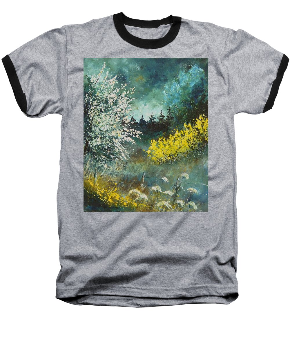 Spring Baseball T-Shirt featuring the painting Spring by Pol Ledent