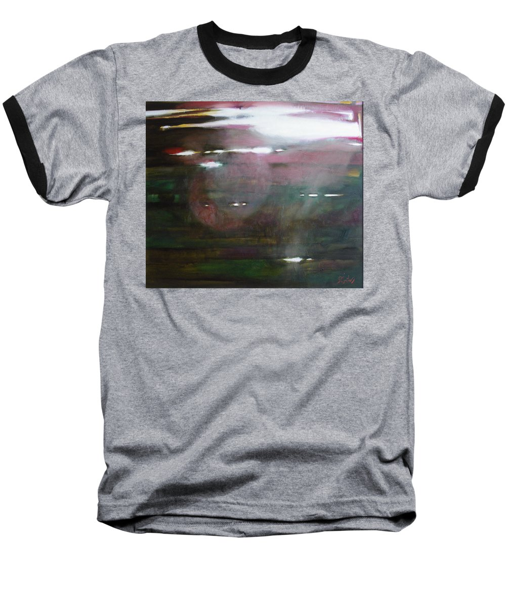 Oil Baseball T-Shirt featuring the painting The Parallel World by Sergey Ignatenko