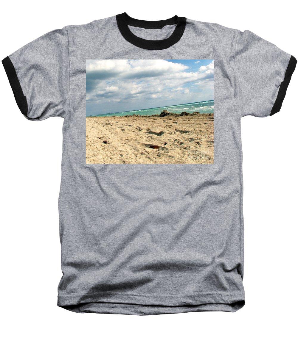 Miami Baseball T-Shirt featuring the photograph Miami Beach by Amanda Barcon