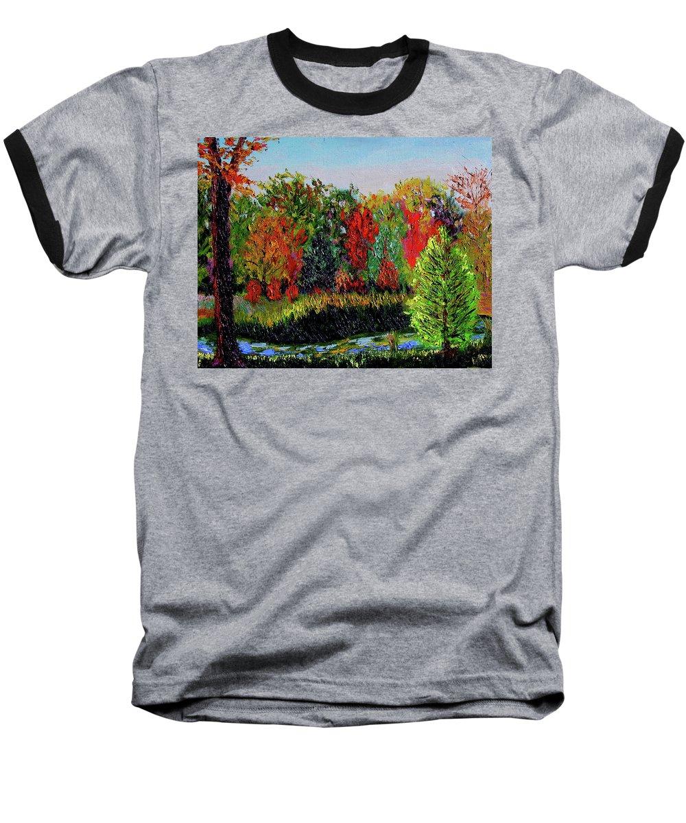 Plein Air Baseball T-Shirt featuring the painting Sewp 10 10 by Stan Hamilton