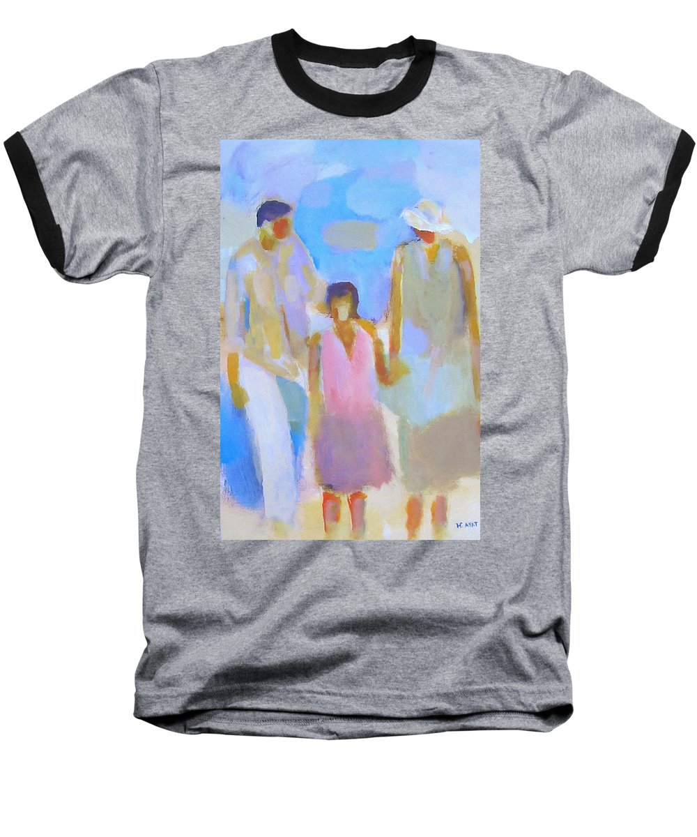 Abstract Baseball T-Shirt featuring the painting 3 With Love by Habib Ayat