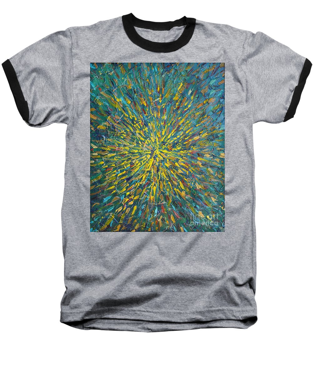 Abstract Baseball T-Shirt featuring the painting Untitled by Dean Triolo