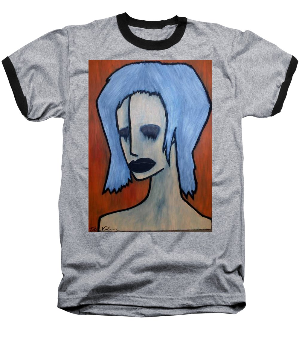 Potrait Baseball T-Shirt featuring the painting Halloween by Thomas Valentine