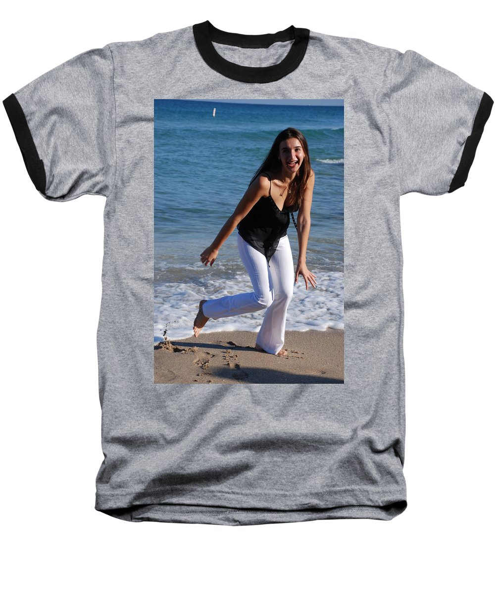 Sea Scape Baseball T-Shirt featuring the photograph Gisele by Rob Hans