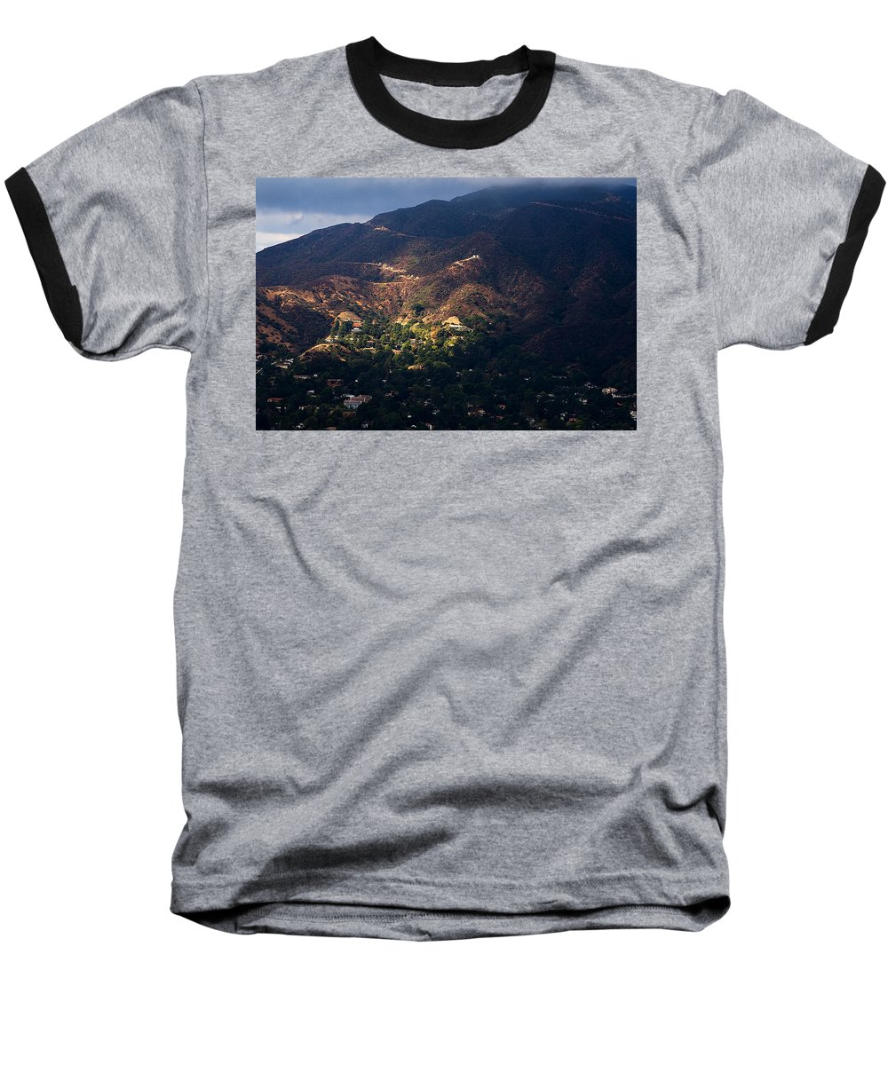 Clay Baseball T-Shirt featuring the photograph A Break In The Clouds In Southern California by Clayton Bruster