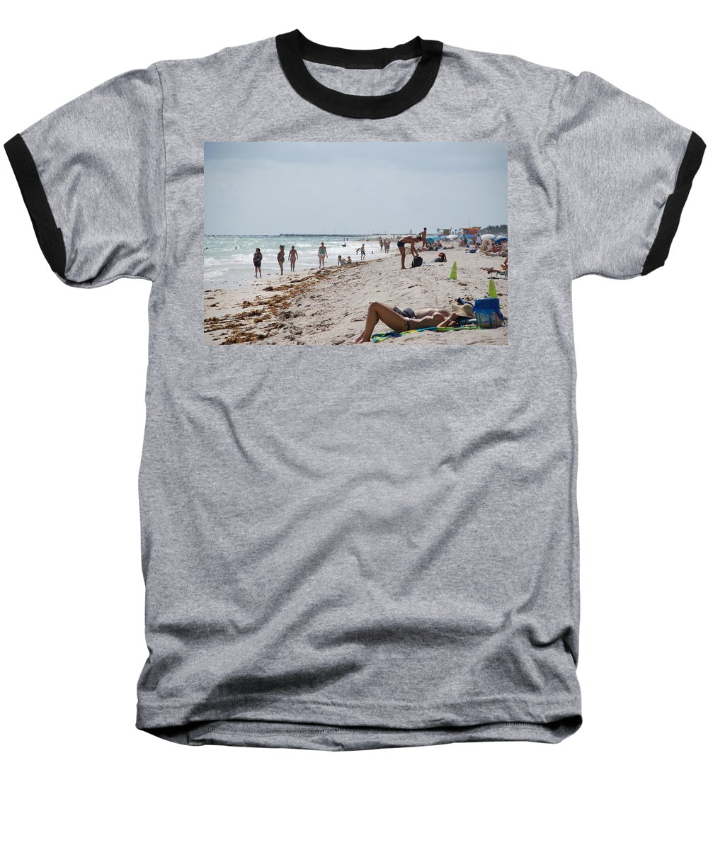 Nude Baseball T-Shirt featuring the photograph A Day At Paradise Beach by Rob Hans
