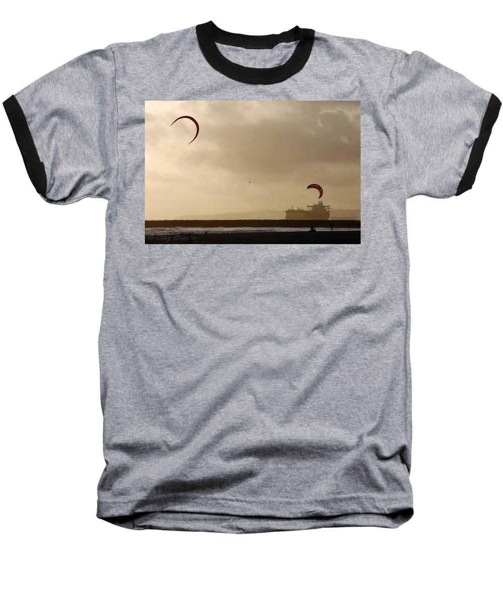 Clay Baseball T-Shirt featuring the photograph A Day At The Beach by Clayton Bruster