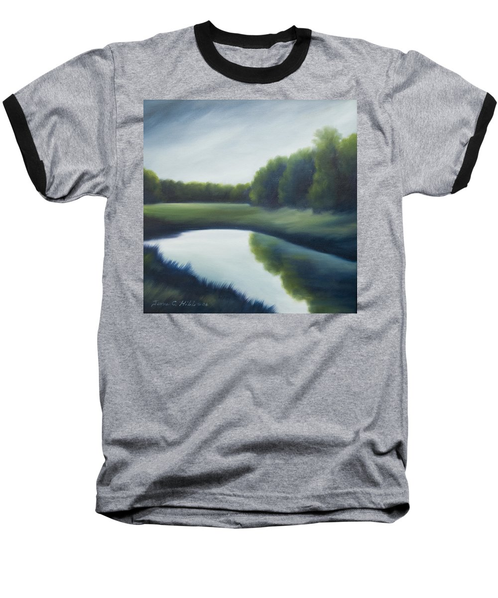 Clouds Baseball T-Shirt featuring the painting A Day In The Life 2 by James Christopher Hill