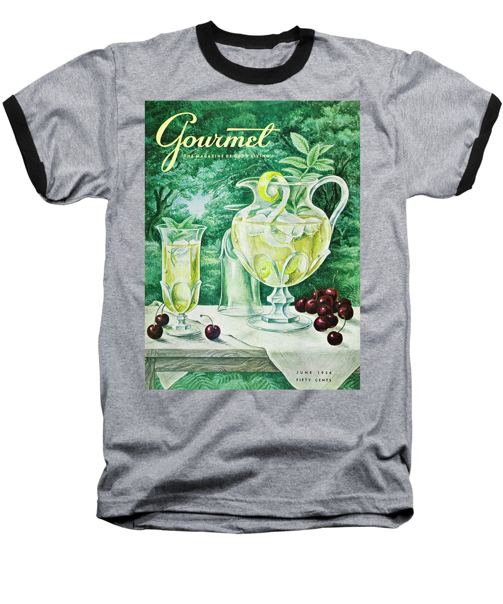 Food Baseball T-Shirt featuring the photograph A Gourmet Cover Of Glassware by Hilary Knight