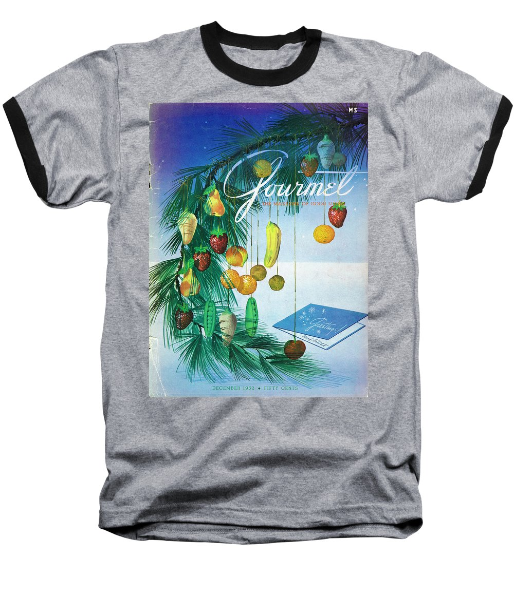 Food Baseball T-Shirt featuring the photograph A Gourmet Cover Of Marzipan Fruit by Henry Stahlhut