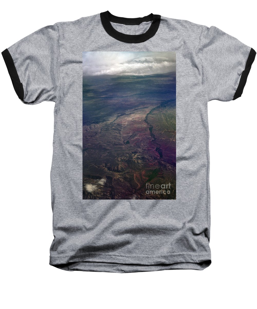 Aerial Photography Baseball T-Shirt featuring the photograph A Midwestern Landscape by Richard Rizzo