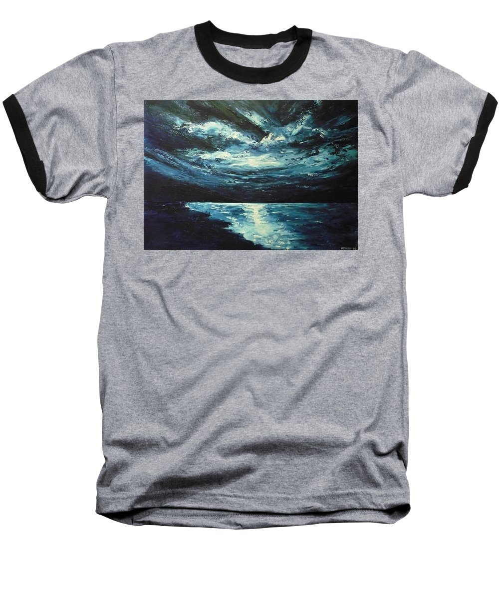Landscape Baseball T-Shirt featuring the painting A Milky Way by Ericka Herazo