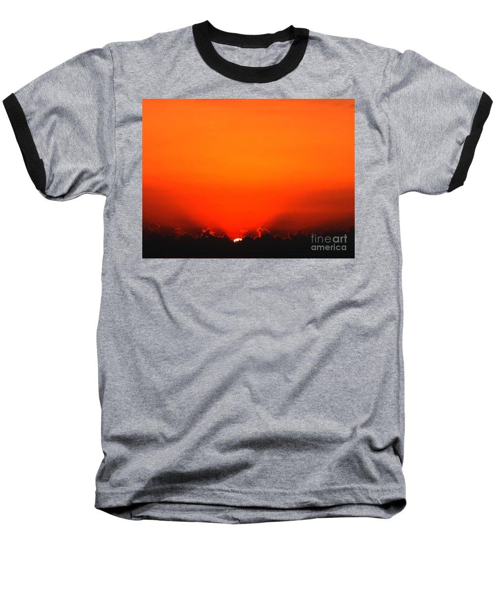 Sun Baseball T-Shirt featuring the photograph A New Day by Amanda Barcon