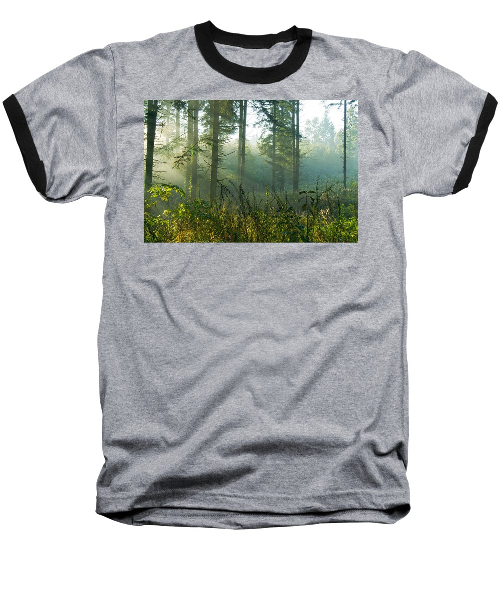 Nature Baseball T-Shirt featuring the photograph A New Day Has Come by Daniel Csoka