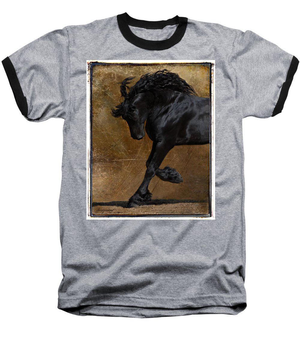 Horse Baseball T-Shirt featuring the photograph A Regal Bow by Jean Hildebrant