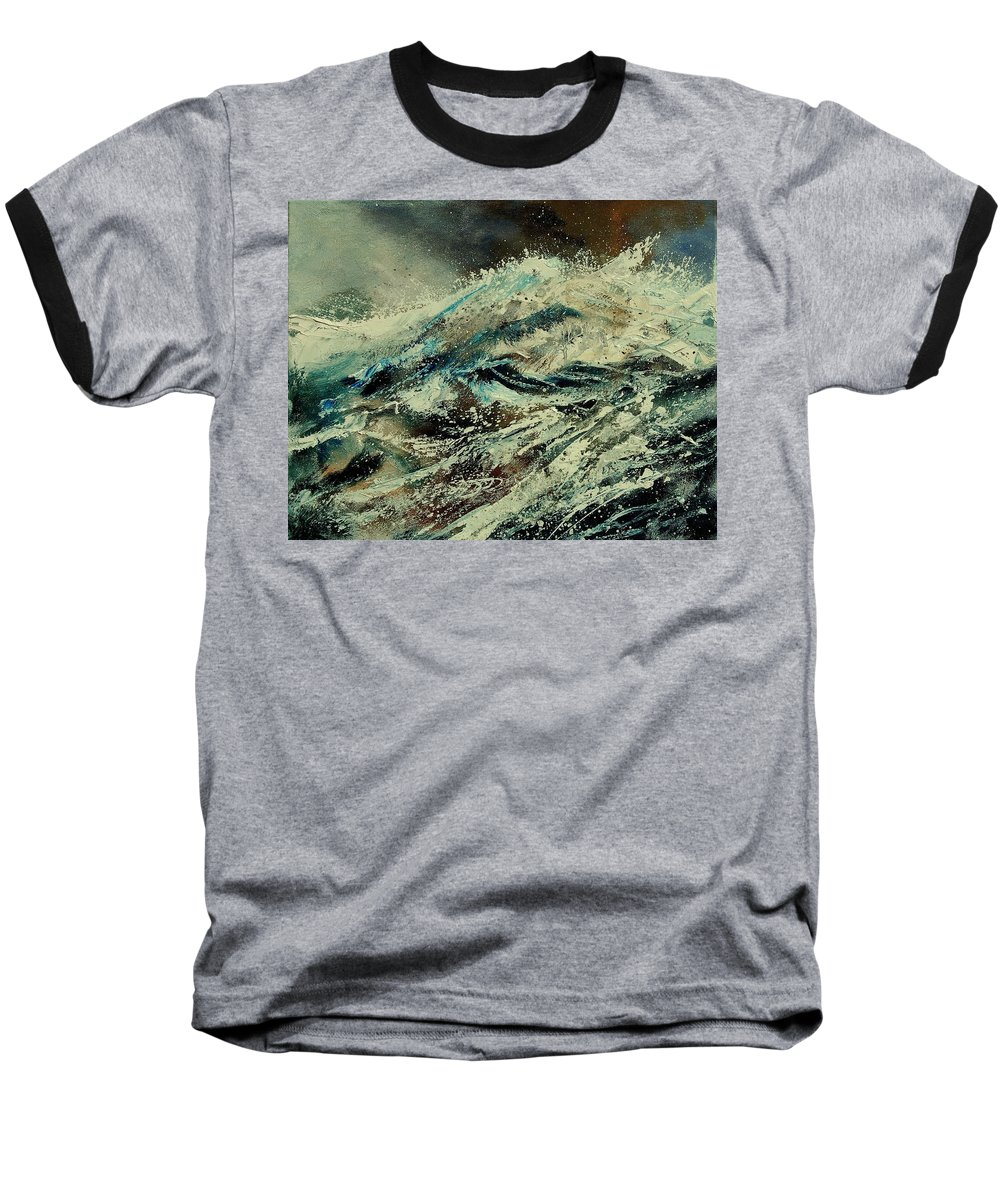 Sea Baseball T-Shirt featuring the painting A Wave by Pol Ledent
