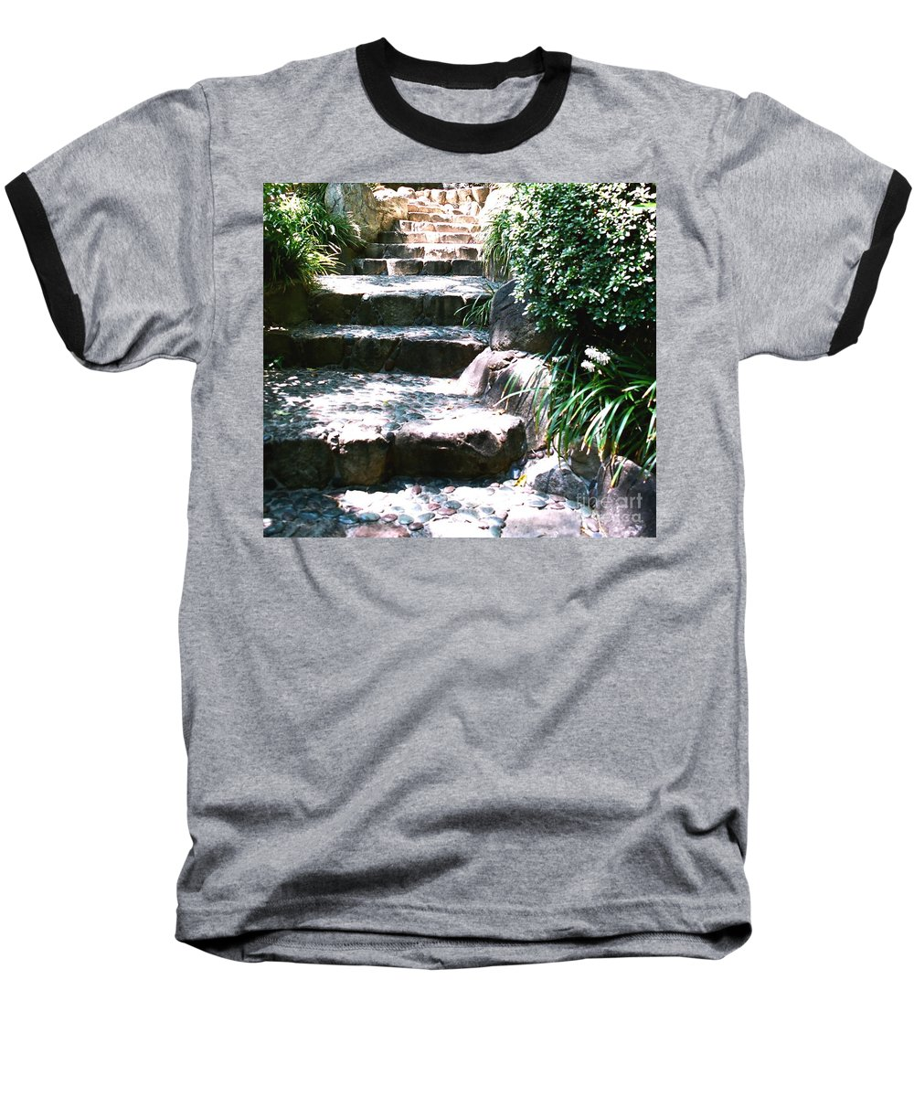 Stairs Baseball T-Shirt featuring the photograph A Way Out by Dean Triolo