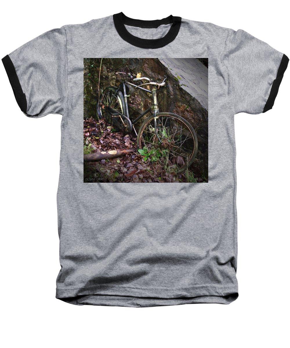 Irish Baseball T-Shirt featuring the photograph Abandoned Bicycle by Tim Nyberg