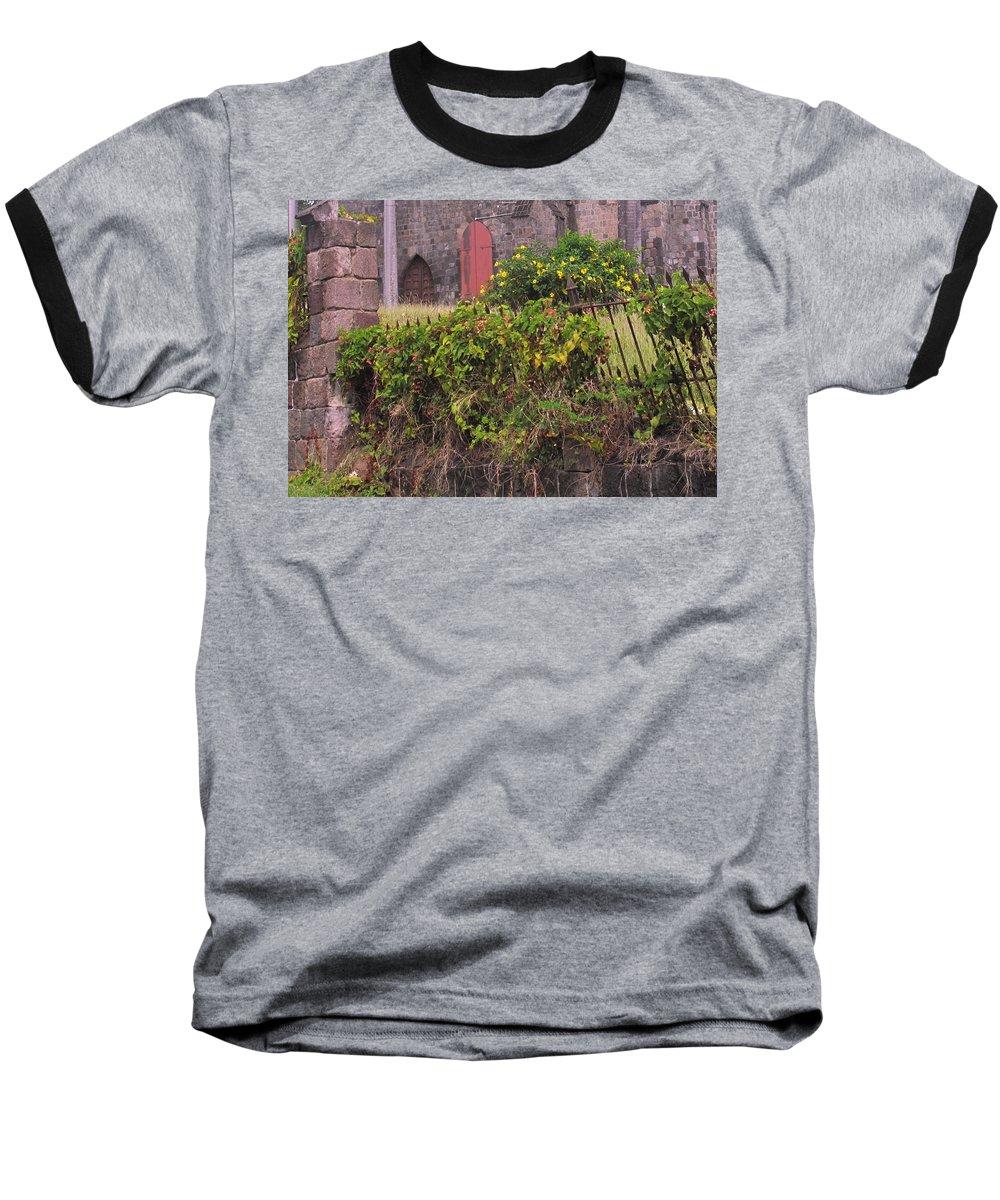 Anglican Baseball T-Shirt featuring the photograph Abandoned Churchyard by Ian MacDonald