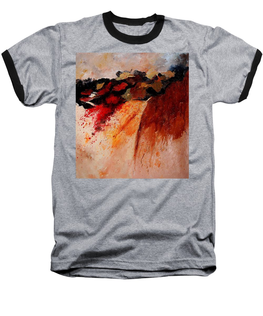 Abstract Baseball T-Shirt featuring the painting Abstract 010607 by Pol Ledent