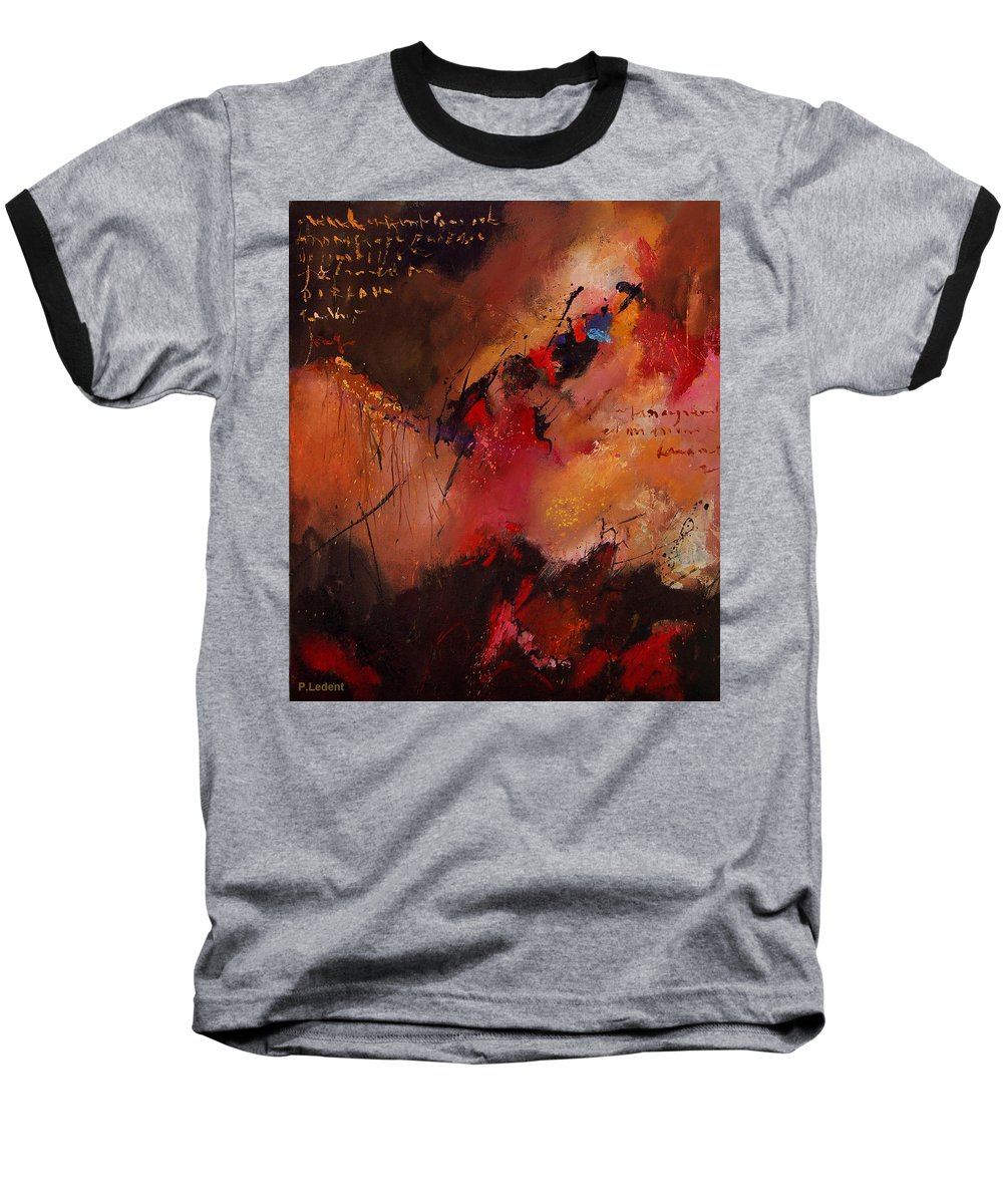 Abstract Baseball T-Shirt featuring the painting Abstract 0408 by Pol Ledent